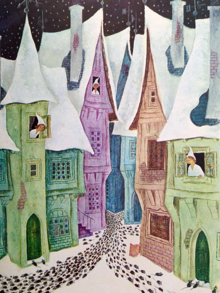 De rattenvanger van Hamelen. Illustraties van Marcel Tillard.
