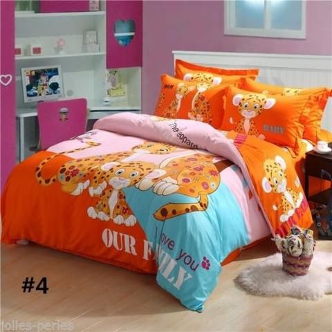 JP 1Set 100% cotton owl bedding 3d bed linen duvet cover/bed sheet/pillowcases