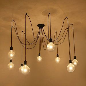 D tails sur e27 abat jour de lustre lampe suspension for Lustre de salon moderne