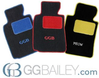 New to GGBailey? Sign up here and receive a *10 percent discount* for your entire order. Check out custom car floor mats, home mats, pet mats, and more.