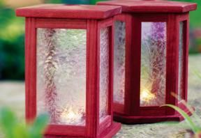 Check out these instructions on how to build purpleheart patio lanterns, great for your next backyard patio