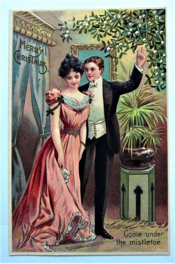 """Come Under the Mistletoe"" CHRISTMAS Tuxedo Man Asks LADY Embossed Postcard FOR SALE • $12.00 • See Photos! Money Back Guarantee. Postcard Grading System MINT - as if freshly printed (rare)...EXCELLENT - with only light corner/edge wear...VERY GOOD - may have corner/ edge wear, light marks, light surface wear, light soil, 352102835102"