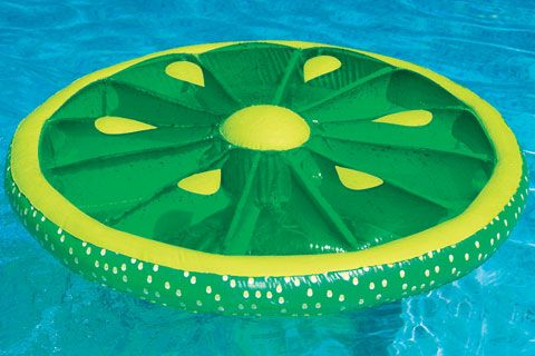 play with cool floaties, especially fruit shaped ones.