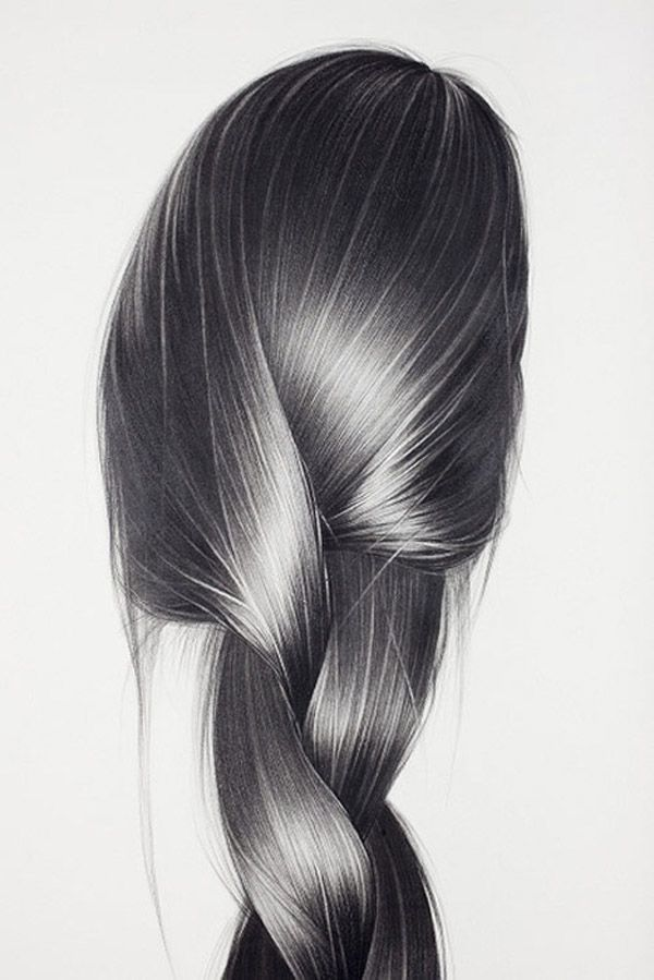 Realistic Pencil Drawings, Shiny Hair. It takes a lot of skill to draw hair - Art Curator & Art Adviser. I am targeting the most exceptional art! See Catalog @ http://www.BusaccaGallery.com