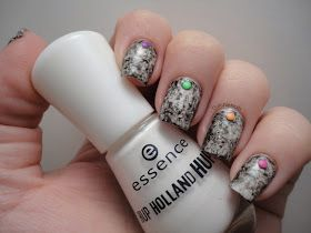 Dutchie Nails: Monochrome Saran Wrap