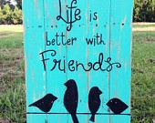 Quote for clothes line picture frame. Red and turquoise.