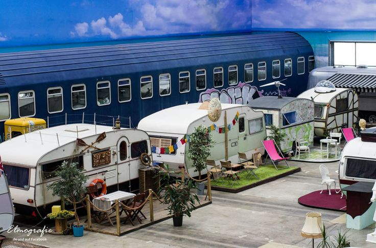 basecamp bonn young hostel indoor campground hostel hosts vintage RVs as rooms - designboom | architecture & design magazine