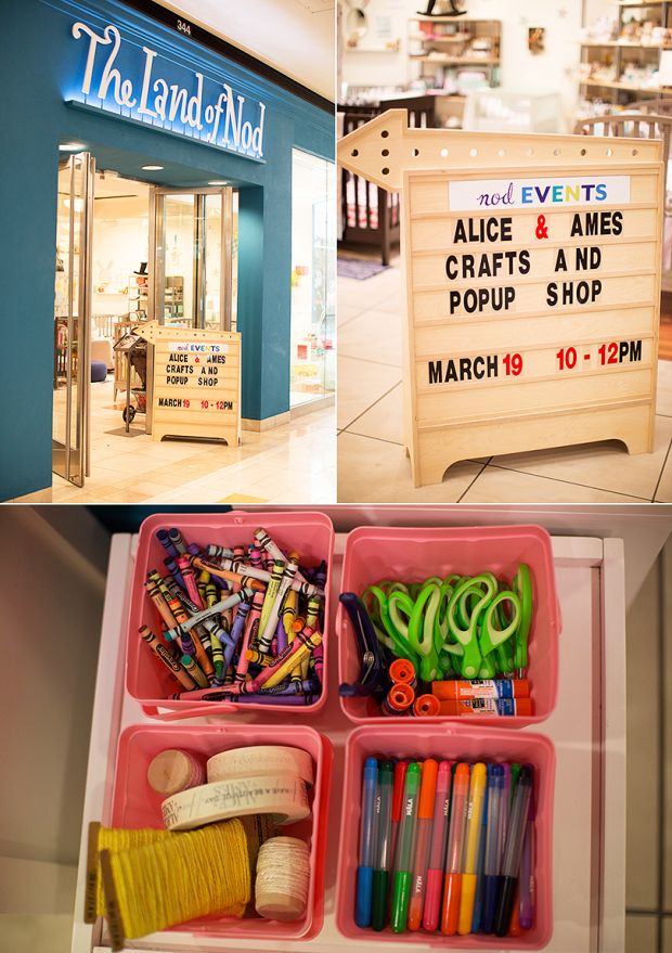 Alice & Ames did a craft & popup shop at our South Coast Plaza Store. Do you live by a Land of Nod store? We host fun #NodEvents regularly!
