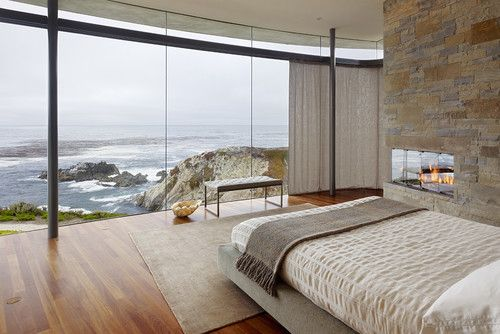 Why would you ever close the curtains?  Modern bedroom by Fulcrum Structural Engineering