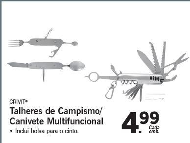 Talheres de Campismo/ Canivete Multifuncional