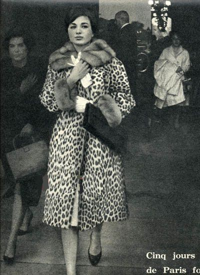 . Farah Diba shopping in Paris, 1960's.