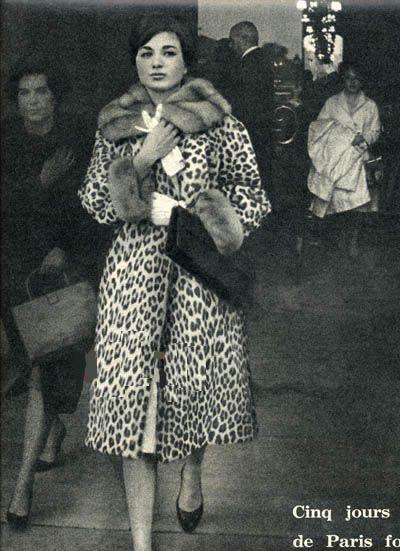 Farah Diba shopping in Paris, 1960's