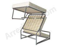 Pouf trasformabile a letto in pochi secondi, ideale anche per l'utilizzo giornaliero, si adatta a qualsiasi tipo di arredamento. Pouf letto economico Made in Italy in offerta esclusiva