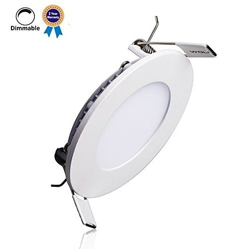 B-right 6W 4-inch Dimmable Ultra-thin Round LED Panel Light, 400lm, 40W Incandescent Equivalent, 5000K Cool White, LED Recessed Ceiling Lights for Home, Office, Commercial Lighting *** Find out @ http://www.amazon.com/gp/product/B015DSPD5U/tag=homeimprtip08-20&pq=220716022128