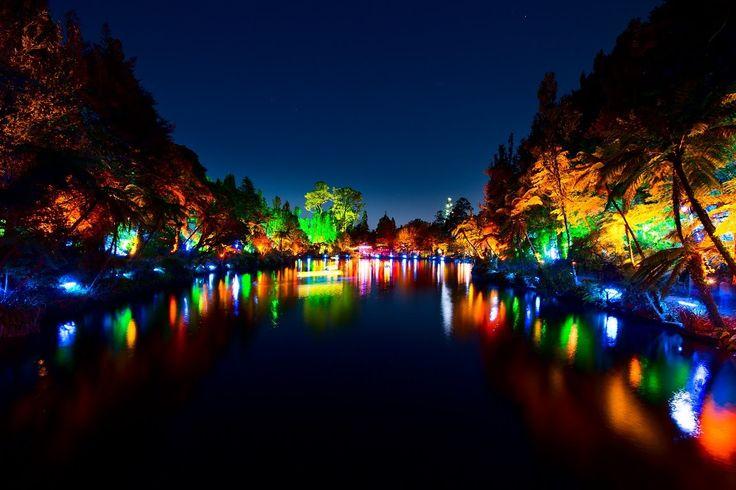 TSB Bank Festival of Lights - Fly Over Video
