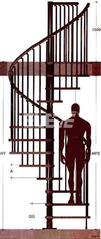 Escala Humana de Nuestras Escaleras Caracol
