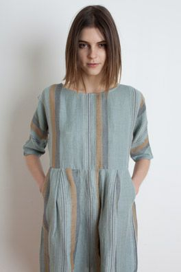 Blue stripe dress | Short sleeved | Ace and Jig | Summer light tunic |