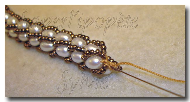 Turkish crochet tutorial (French) with size 11s and pearls.  #seed #bead #tutorial-Free