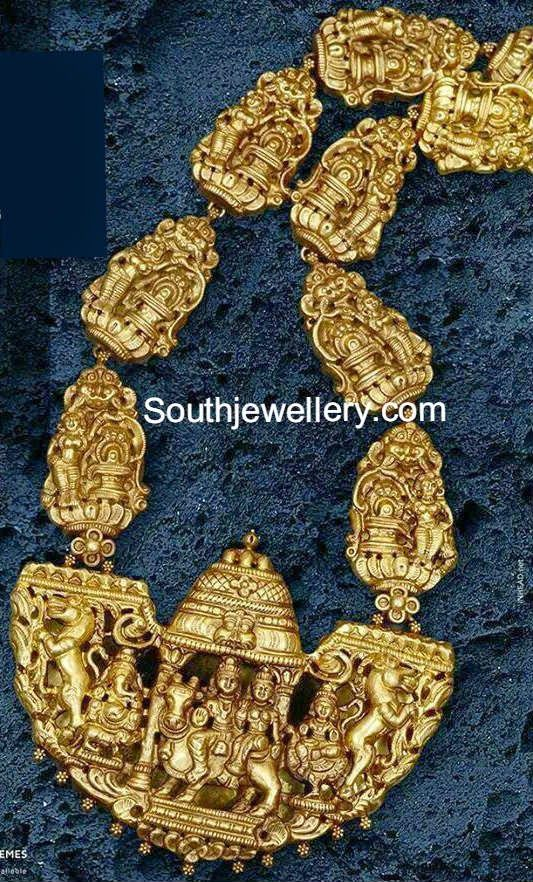 temple jewellery necklace #Shiva #Devi