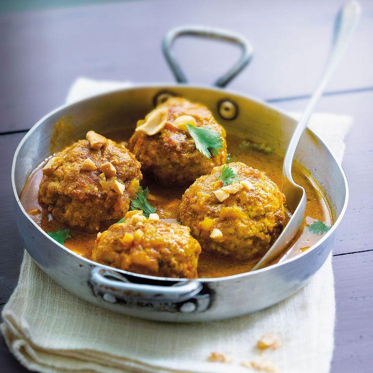 Découvrez la recette Boulettes de porc au curry sur cuisineactuelle.fr.