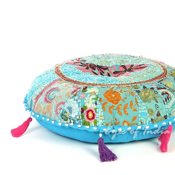 Decorative Floor Pillows Cushions : 31 best Eye of India Handmade Bohemian Floor Pillows and Poufs images on Pinterest Bohemian ...