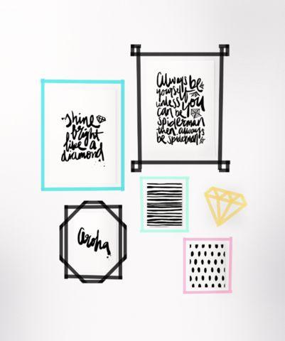 97 besten masking tape ideen bilder auf pinterest. Black Bedroom Furniture Sets. Home Design Ideas