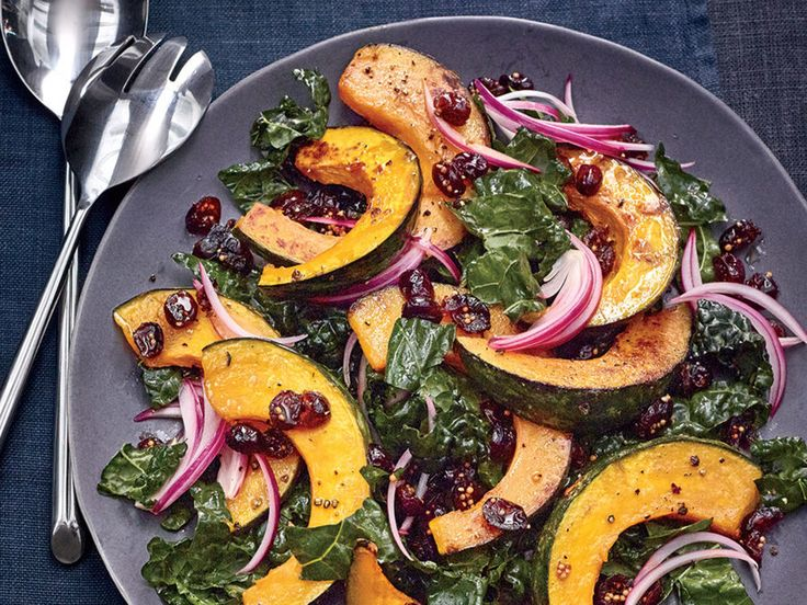 Like autumn on a plate, this salad embodies the best of fall seasonal produce. Hearty roasted kabocha squash, tart dried cranberries, and springy fresh kale all combine for a filling salad that threatens to grab the spotlight for family dinner. No need for a store-bought dressing, this meal has enough flavors from the various components to stand on its own. Massaging the kale helps make it slightly softer, resulting in a more palatable texture for those turned off by the naturally coarse…