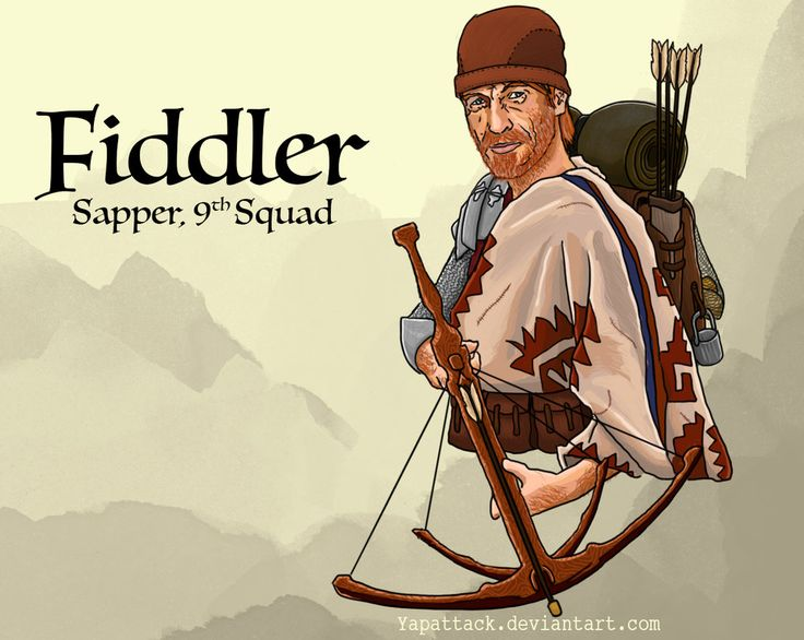 One of my favorite characters of the series so far. Maybe its the badass attitude and the explosives, but Fiddler reminds me of the medieval equivalent of a special operative. Feel free to check ou...