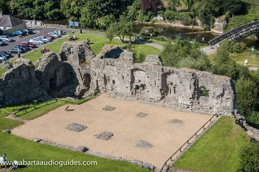 The foundations of the Great Hall of Trim Castle, County Meath constructed by Geoffrey de Genneville in the late thirteenth century. #Abarta Audioguides #Neil Jackman #Google+