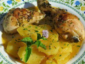 Pollo marroquí cocina tradicional