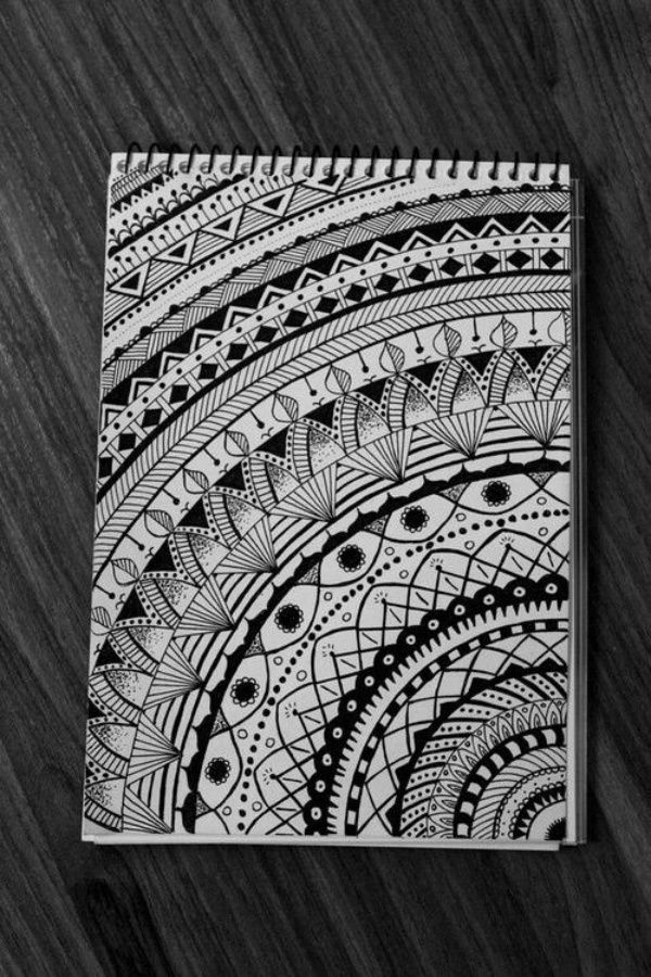 draw easy mandala drawing simple zentangle doodle bored drawings pencil mandalas hercottage craft dessin patterns favland craftidea inspiration zeichnen buzzhippy