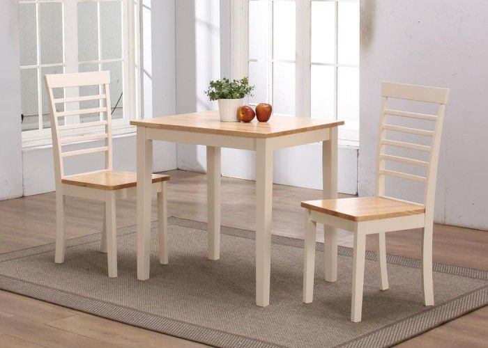 Our New York Dining Range Is A Wooden With Natural And Cream Finish