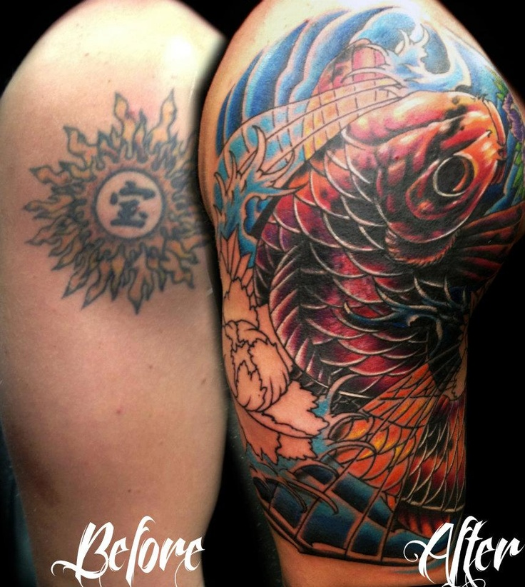 19 best tattoos images on pinterest tattoo designs for Koi fish cover up