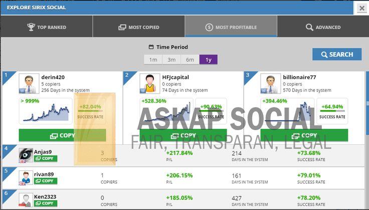 Ini bukti bahwa Askap Social merupakan tempat yang nyaman untuk trading dan menghasilkan profit sebanyak mungkin. // master traders most profit askap social copy trade trading bisnis trading online bisnis online forex trading