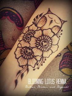 Festival Henna Owl....it would make a cool tatt