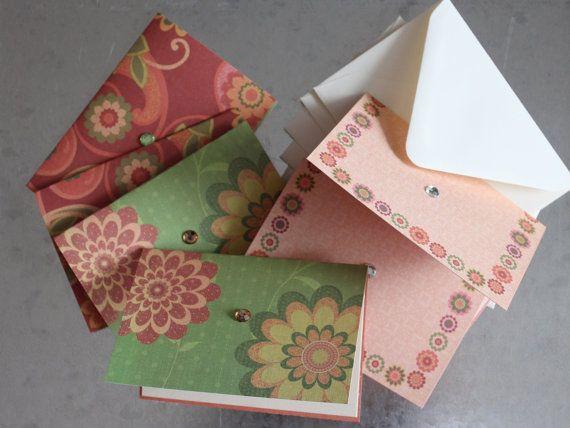 6 Blank Decorative Cards by LYHHandmadeGifts on Etsy