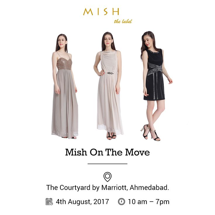 As we arrive in the colourful city of weaves, Mish, the Label invites you to join us at our latest vogue haunt – the Courtyard by Mariott, Ahmedabad on 4th August between 10 am – 7pm. #exhibition #fashionexhibition #fashion #vogue #voguefashion #latestfashion #ahmedabad #fashionlove #fashiontrends #fashionlook #eveningwear