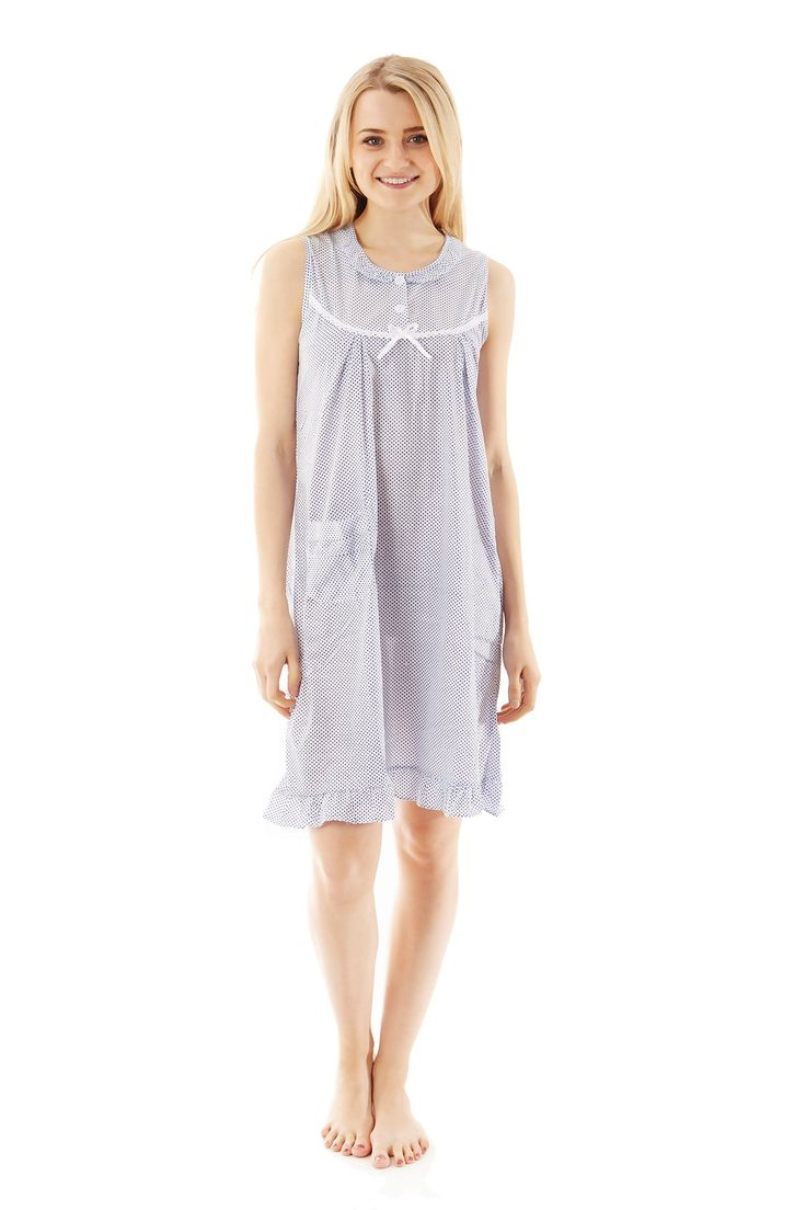719 Pajamas Night Gown Pajamas Sleepwear Blue M