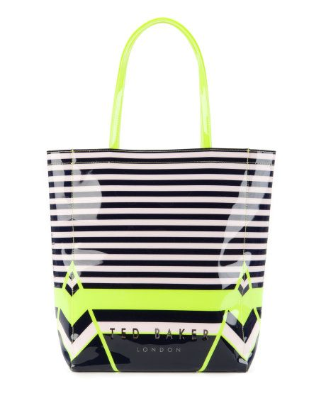 Large candy stripe shopper - Navy | Bags | Ted Baker