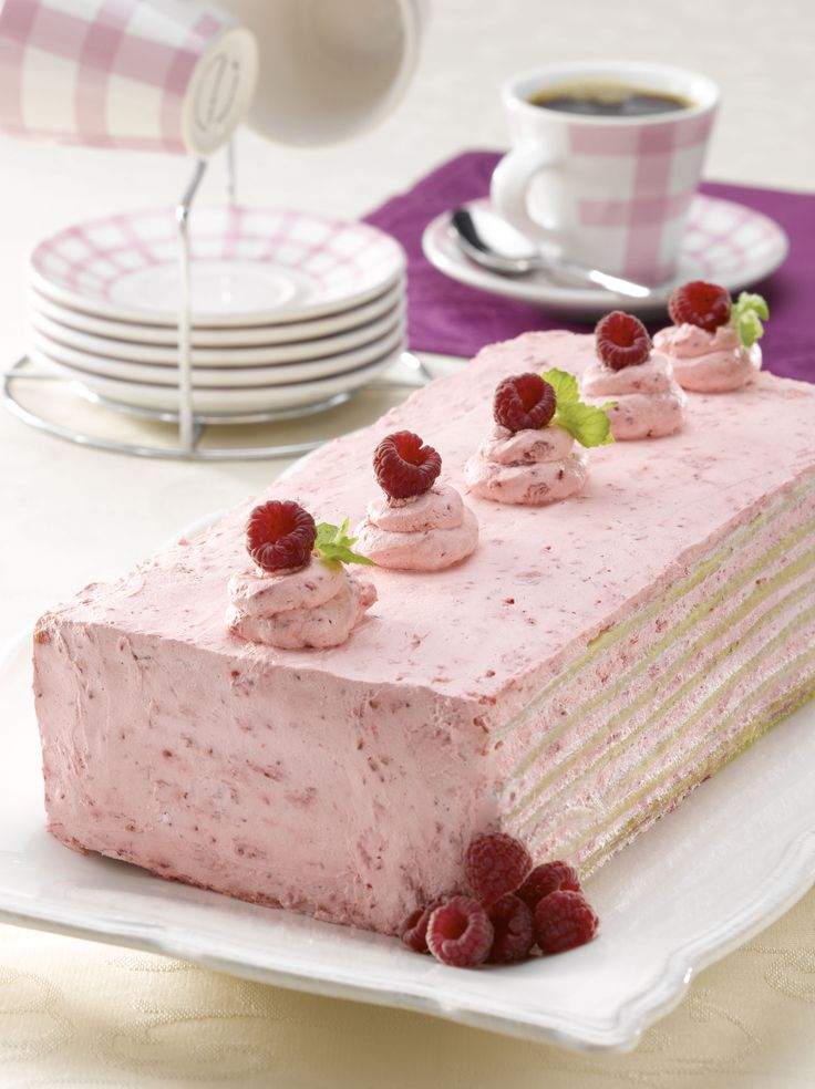 Torta panqueque frambuesa sin azúcar