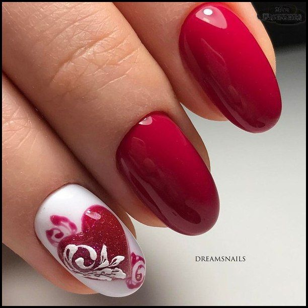 Nail Art 3928 Krasnye Nogti Romantichnye Nogti Nogti