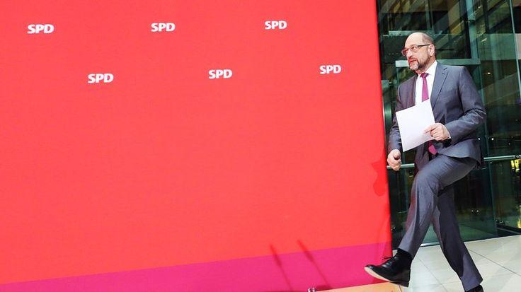 SPD: SPD-Chef Martin Schulz in der Parteizentrale in Berlin, nach dem Scheitern der Jamaika-Koalition