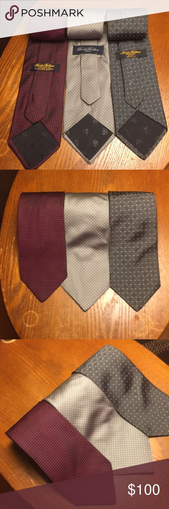 Brook Brothers ties Three brooks brothers ties. Brooks Brothers Accessories Ties