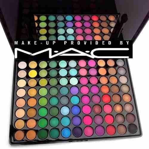 paleta de sombras mac 88 colores maquillaje mate y brillante