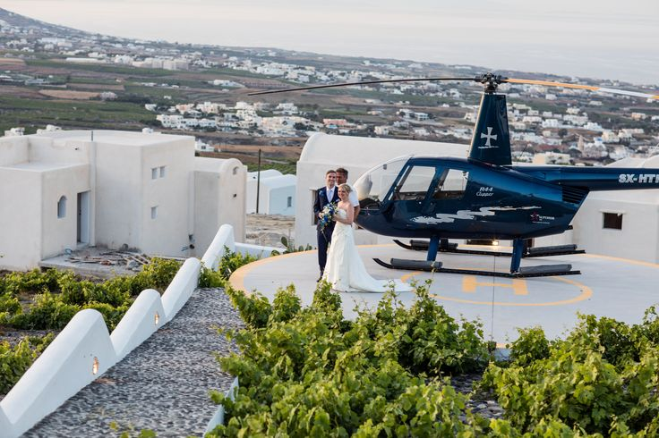 Have you ever dreamed of impressing your wedding guests by making an unforgettable entrance/exit in your very own personal #helicopter? #PyrgosRestaurant is committed to making your dreams a reality. Enjoy a private helicopter ride around the island of Santorini on your wedding day and land at the Pyrgos Restaurant #exclusive #helipad! Let us make a #dream come true ! #travel #traveling #wanderlust #bride #groom #wedding #reception #perfect #place