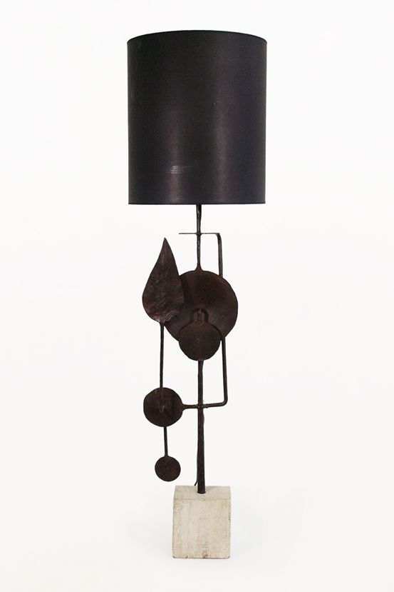 Very Large Sculptural Table Lamp by Giovanni Banci, circa 1970, Italy