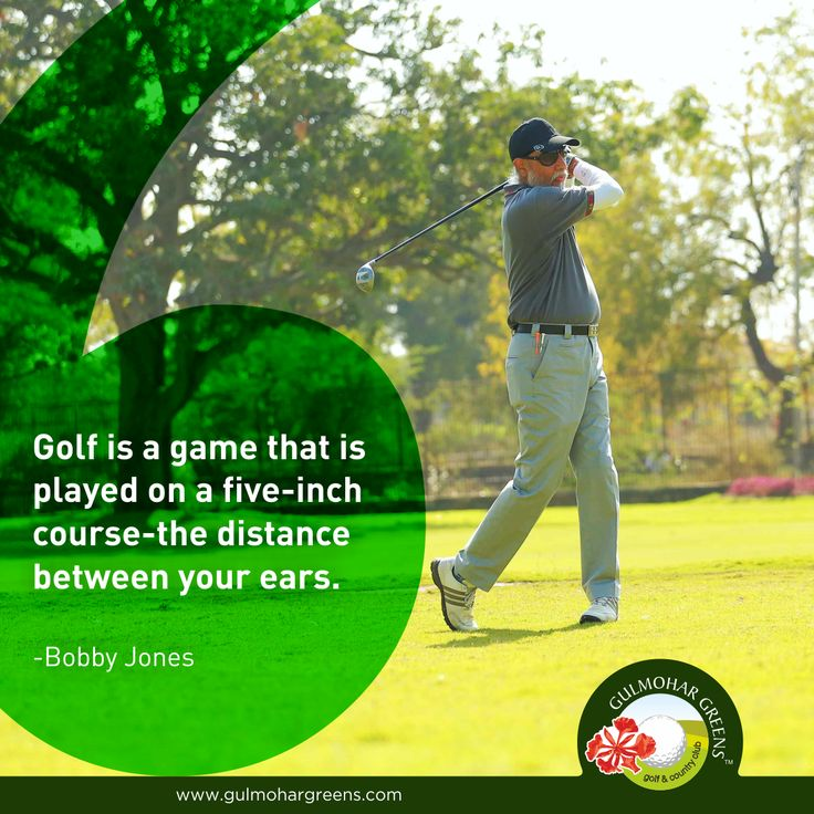 #GolfQuotes  Whether you are a beginner or professional, championship golf is mainly played between the ears.
