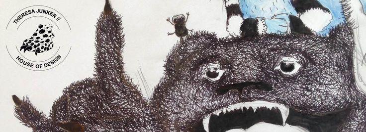 movar the bear - illustration from graphic novel - Theresa Junker
