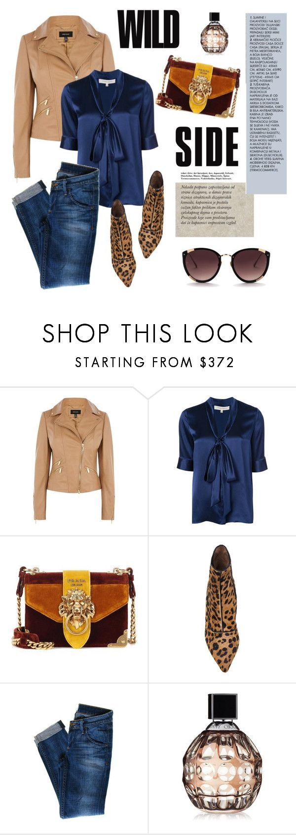 """""""Untitled #2305"""" by ladydelicat ❤ liked on Polyvore featuring Karen Millen, Carolina Herrera, Prada, Tabitha Simmons, Hudson Jeans, Jimmy Choo and Rebecca Taylor"""