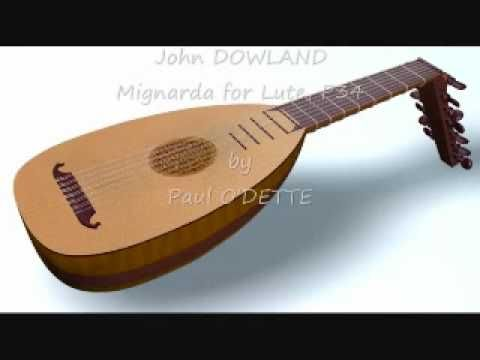 Las gallardas compuestas para laúd por John Dowland e interpretadas por Paul O'Dette.